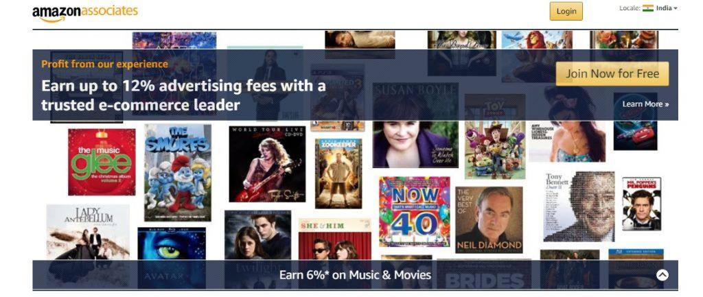 amazon affiliate program sigh up online make money