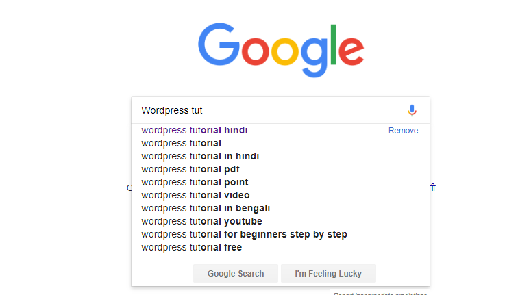 Googel auto suggest Best Keyword research tool