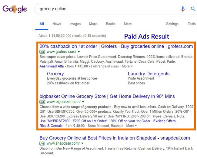 google paid marketing