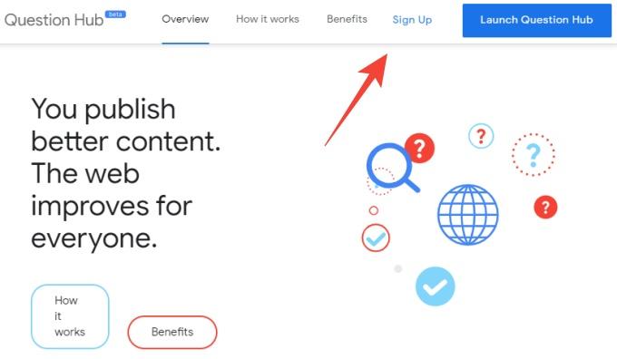 Google question hub signup