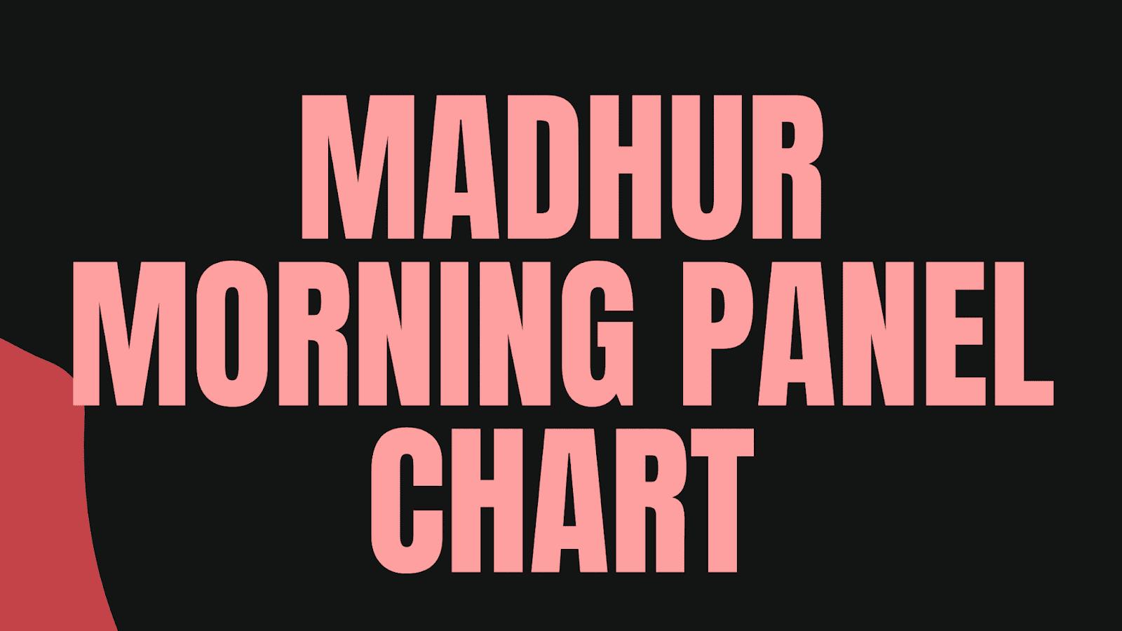 मधुर मटका Madhur Day Result